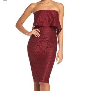 Likely cocktail dress- maroon ( TX Aggie fans!!)